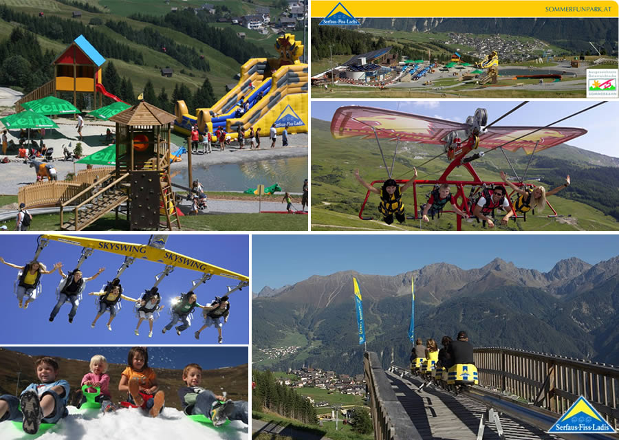 Click and enlarge - Summer Fun Park in Fiss - Möseralm.