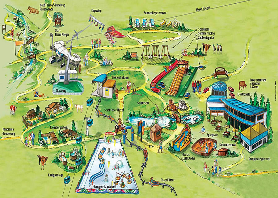 Overview Summer Fun Park in Fiss. Playground of superlatives!