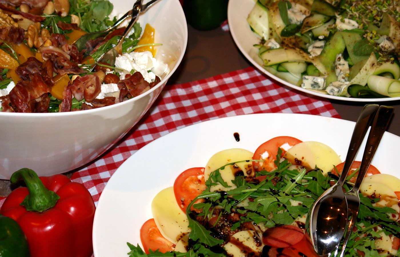 Salatbuffet von Hotel Natürlich - Familien-Ferien in Fiss.