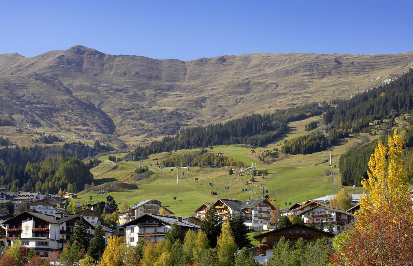 Ansicht Fiss in Tirol - Sommer-Ferien in Österreich.
