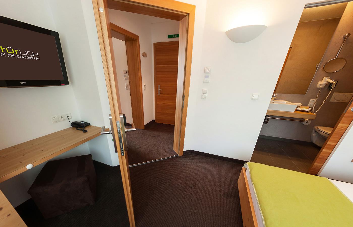 """Einzelzimmer """"Für mich"""" - Natürlich. Hotel in Bikeparknähe in Fiss - Tirol."""