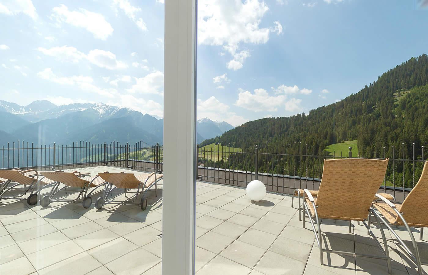 Wellness Bergoase im Natürlich. Hotel in Serfaus-Fiss-Ladis in Österreich.
